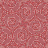 Patroon van het Behang van Swirly het Naadloze Stock Foto's