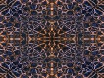 Patroon van het caleidoscoop het dierlijke bont Stock Fotografie