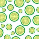 Patroon van het citroen het tropische en exotische fruit Royalty-vrije Stock Afbeeldingen