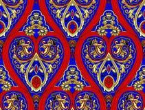 Patroon van het de kleurenontwerp van Paisley het naadloze Bloemen stock fotografie