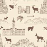 Patroon van het de stadsoriëntatiepunt van reisschotland het beroemde Stock Foto