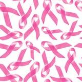 Patroon van het de voorlichtings het roze lint van borstkanker Stock Foto's