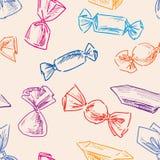 Patroon van het getrokken suikergoed royalty-vrije illustratie