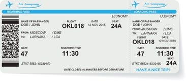 Patroon van het kaartje van de luchtvaartlijn instapkaart royalty-vrije illustratie