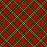 Patroon van het Kerstmis het naadloze geruite Schots wollen stof Stock Afbeelding