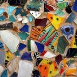 Patroon van het kleurrijke mozaïek op een muur Royalty-vrije Stock Afbeeldingen
