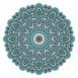 Patroon van het mandala het sierkant van de stersneeuwvlok Stock Afbeeldingen