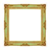 Patroon van het omlijsting het houten gesneden die kader op witte rug wordt geïsoleerd Royalty-vrije Stock Afbeelding