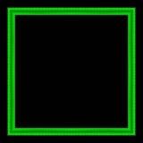 Patroon van het omlijsting het houten gesneden die kader op zwarte rug wordt geïsoleerd Stock Foto