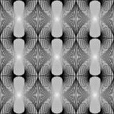 Patroon van het ontwerp het naadloze zwart-wit net Royalty-vrije Stock Afbeelding