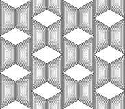 Patroon van het ontwerp het naadloze zwart-wit trapezium Stock Foto