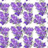 Patroon van het tot bloei komen sneeuwklokjes op een witte achtergrond vector illustratie