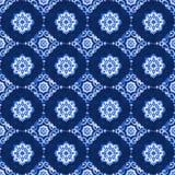 Patroon van het waterverf het blauwe kant Royalty-vrije Stock Fotografie