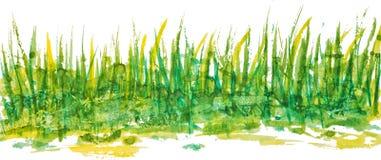 Patroon van het waterverf het lineaire gras Royalty-vrije Stock Afbeelding
