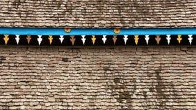 Patroon van houten dak van oud huis Royalty-vrije Stock Foto's