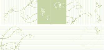 Patroon van huwelijkskaart Stock Foto's