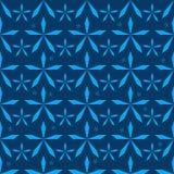 Patroon van Japan van de sterbesnoeiing het blauwe naadloze vector illustratie