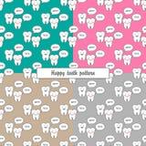 patroon van 4 kleuren het gelukkige tanden Royalty-vrije Stock Foto
