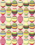 Patroon van kleurrijke paaseieren Stock Afbeelding