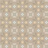 Patroon van korenbloemen in cirkels Royalty-vrije Stock Afbeelding