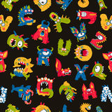 Patroon van leuke monsters royalty-vrije illustratie