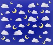 Patroon van manen en wolken Stock Afbeeldingen