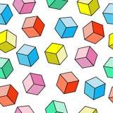 Patroon van multi-colored kubussen Stock Afbeelding