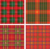 Patroon van naadloze geruite Schotse wollen stofplaid Stock Foto's