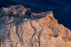 Patroon van Naadloze van de rotstextuur en oppervlakte close-up als achtergrond Stock Afbeeldingen