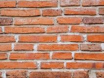 Patroon van oude bruine bakstenen muurachtergrond Stock Foto's