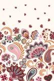 Patroon van Paisley van de damaststijl het bloemen verticale naadloze Naadloos hoog gedetailleerd sneeuwvlokkenpatroon Royalty-vrije Stock Afbeelding