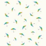 Patroon van paraplu's Royalty-vrije Stock Afbeelding
