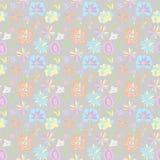Patroon van pastelkleuren op een grijze achtergrond Royalty-vrije Stock Afbeeldingen