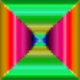 Patroon van pixel het kleurrijke vierkanten Royalty-vrije Stock Afbeelding