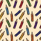 Patroon van potloden Stock Afbeeldingen