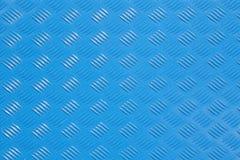 Patroon van in reliëf gemaakt lichtblauw metaal Stock Afbeelding