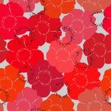 Patroon van rode papavers Royalty-vrije Stock Afbeelding
