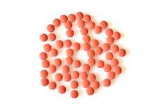 Patroon van Roze Pillen Royalty-vrije Stock Fotografie