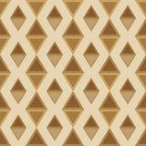 Patroon van ruiten naadloos bruin palet Stock Afbeelding