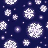 Patroon van sneeuwvlokken Royalty-vrije Stock Afbeelding