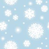 Patroon van sneeuwvlokken Stock Afbeeldingen