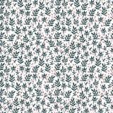 Patroon van takjes met bessen op witte achtergrond Vector Illustratie