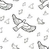 Patroon van tekenings het muzikale vogels Stock Foto's