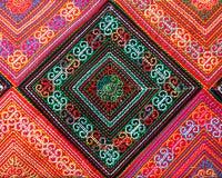 Patroon van Thaise zijdestof Stock Foto