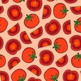 Patroon van tomaten Stock Afbeelding