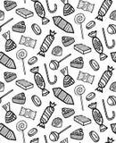 Patroon van Verschillend Contoursuikergoed Royalty-vrije Stock Afbeelding