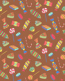 Patroon van Verschillend Suikergoed zonder Slag Stock Afbeeldingen