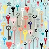 Patroon van verschillende sleutels royalty-vrije illustratie