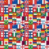 Patroon van vlagpictogrammen dat wordt gemaakt Royalty-vrije Stock Fotografie