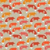 patroon van vossen Royalty-vrije Stock Foto